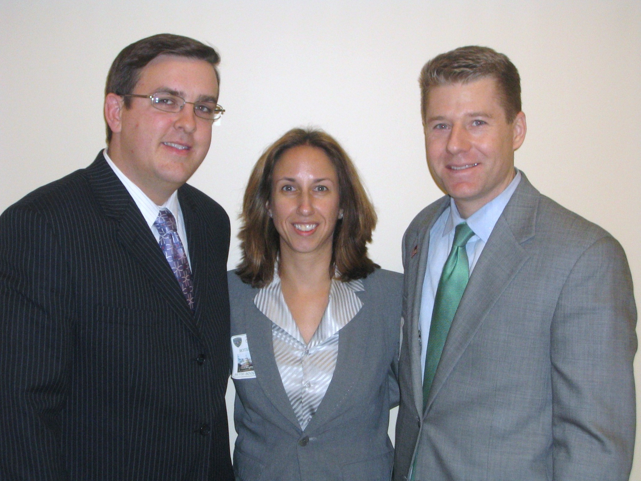 Maryland Delegate Justin Ross, Andrea and Eric on Feb. 20, 2008