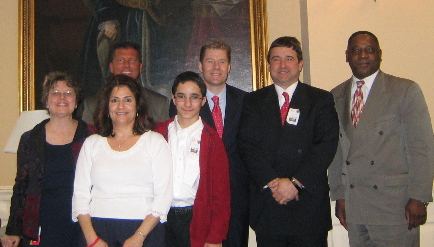 Linda, Brian, George, Kia, Darrin and Eric after delivering testimony before the Maryland Senate on Feb. 29, 2008.