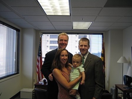 Congressman Chris Van Hollen (MD), Ryan, Andrea and Eric in July 2006