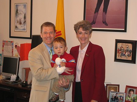 Congresswoman Heather Wilson (NM), Ryan and Eric in May 2007.